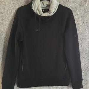 Under Armour Funnel Neck Black Quilted Sweatshirt